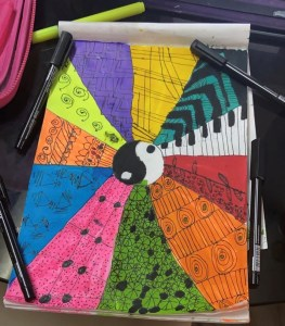 Doodle art - Art class fun with colours of the sun