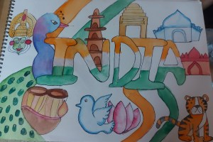 India art - A doodle tribute to Indian culture